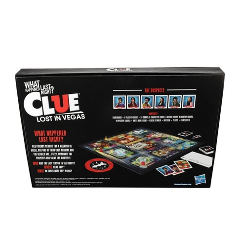 Clue Lost In Vegas Board Game Adult Party Game Parody Of The Classic