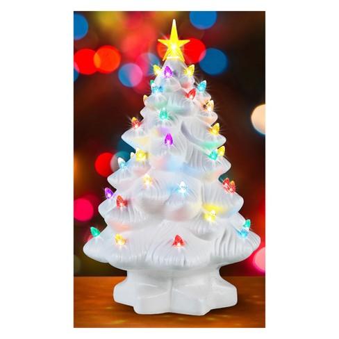 mr christmas ceramic christmas tree figurine white small target - Target Small Christmas Tree
