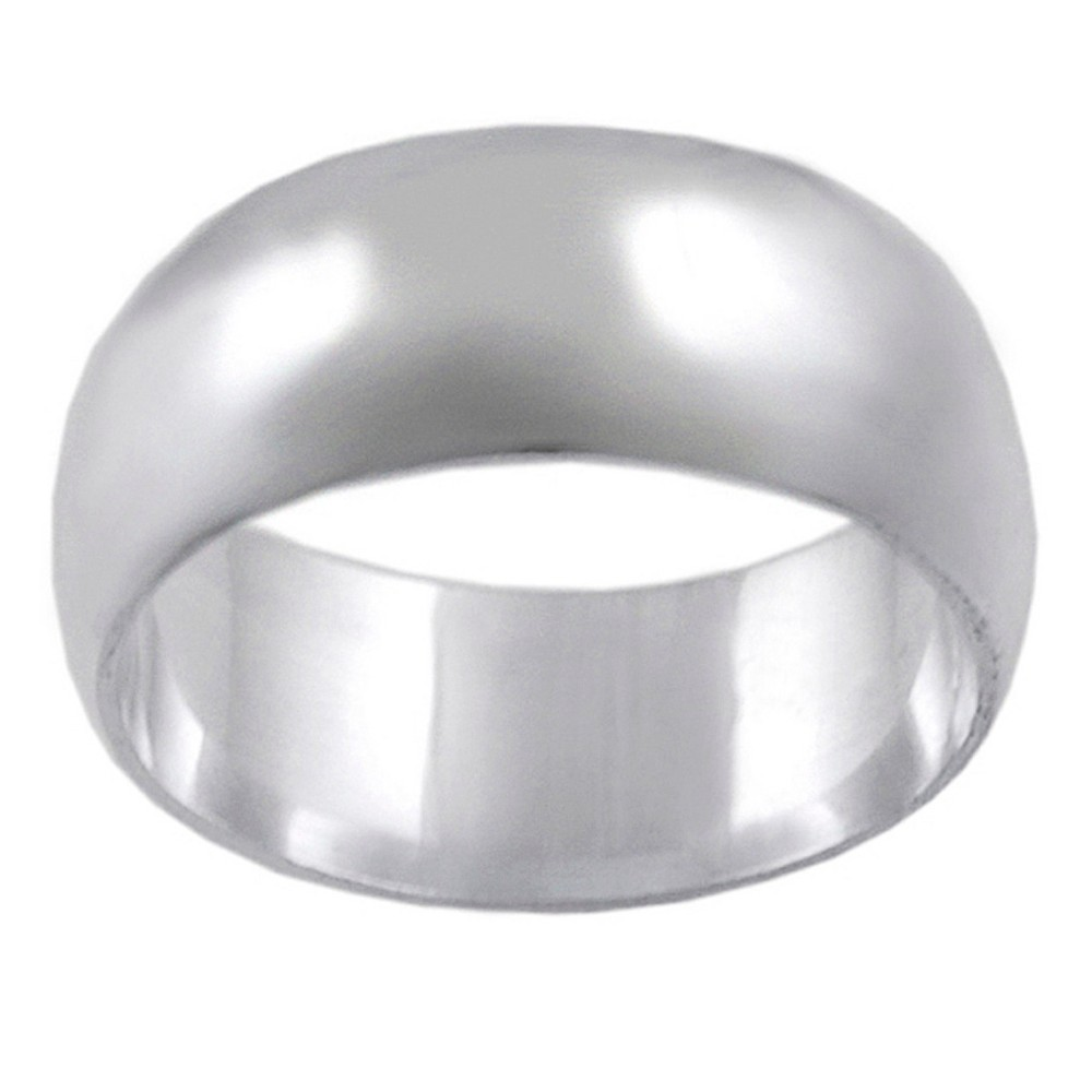 Women's Tressa Collection Sterling Silver Band Ring (8mm) - Silver (5)