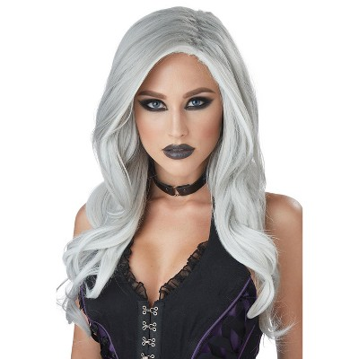 California Costumes Gray and White Fatal Beauty Adult Wig