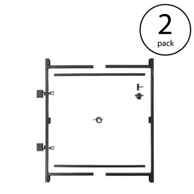 """Adjust-A-Gate Steel Frame Gate Building Kit, 60""""-96"""" Wide, 6' High (2 Pack)"""