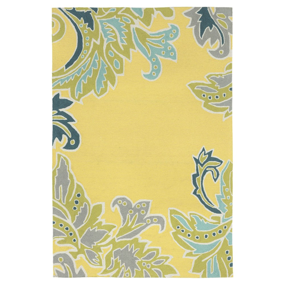 """Image of """"Yellow Leaf Tufted Area Rug 8'3""""""""X11'6"""""""" - Liora Manne"""""""