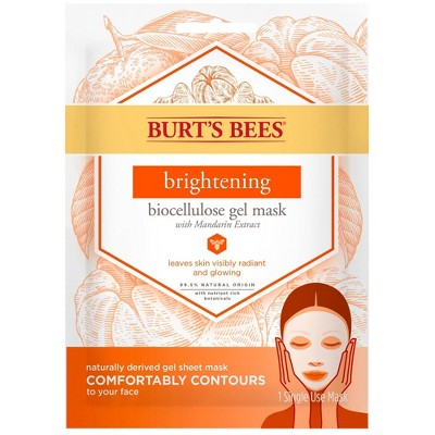 Facial Treatments: Burt's Bees Brightening Biocellulose Gel Mask