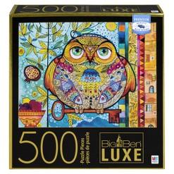 Big Ben Luxe: Folk Owl Big Ben Puzzle 500pc, Adult Unisex