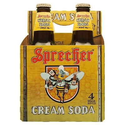 Sprecher Cream Soda - 4pk/16 fl oz Glass Bottles
