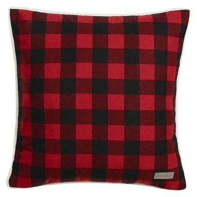 Cabin Plaid Flannel Sherpa Throw Pillow Red (20 x20 )- Eddie Bauer®
