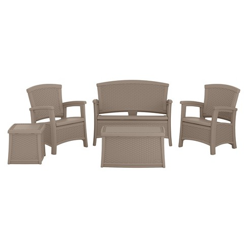 Suncast ELEMENTS™ 5-Piece Resin Classic Patio Set with Storage - image 1 of 3