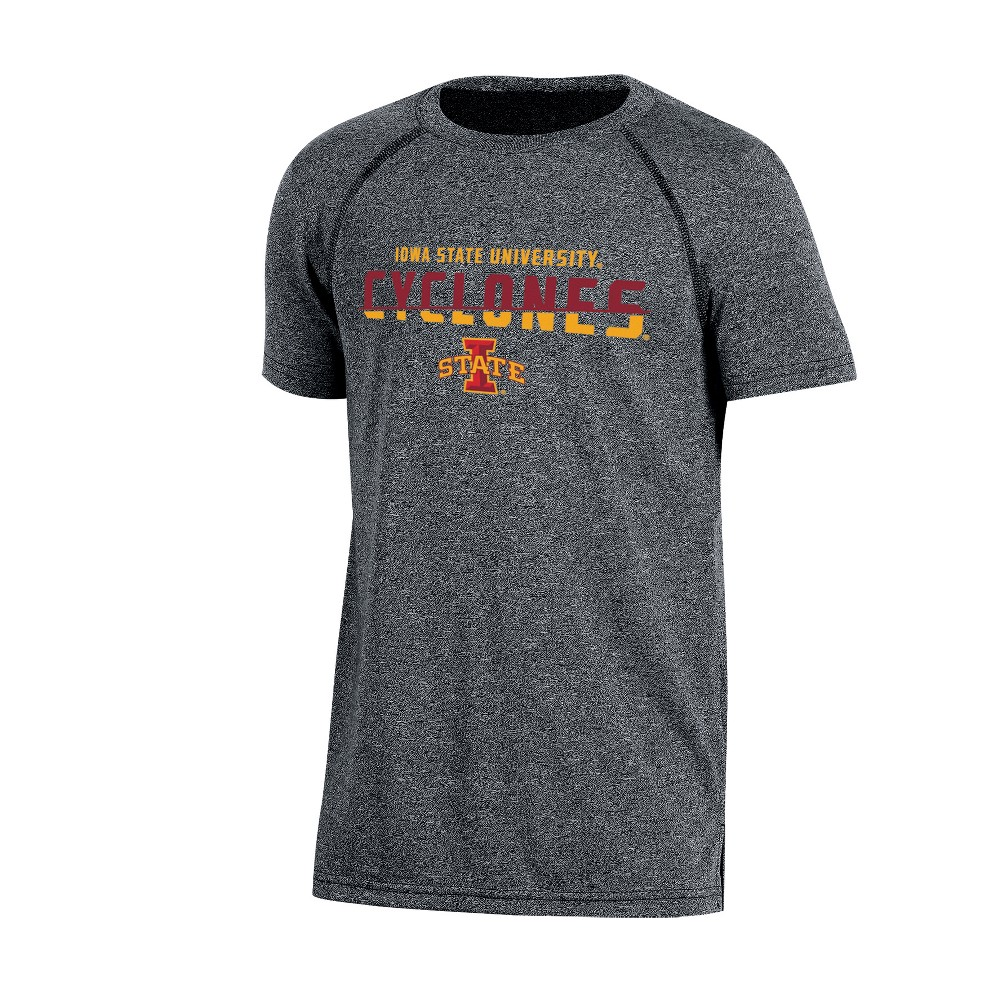 Iowa State Cyclones Boys Short Sleeve Crew Neck Raglan Performance T-Shirt - Gray Heather XS, Multicolored