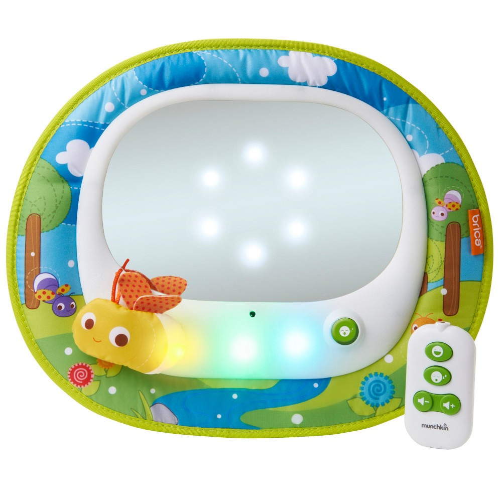 Image of Brica Firefly Baby-In-Sight Mirror, White Green Blue