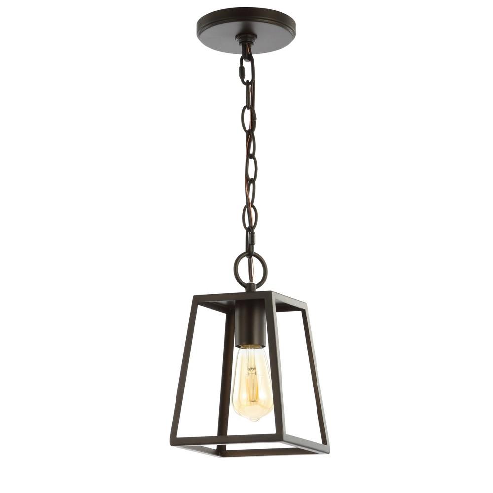 "Image of ""6.25"""" Ira Metal LED Pendant Black (Includes Energy Efficient Light Bulb) - JONATHAN Y"""