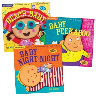 Workman Publishing Company Indestructibles Baby Books - Set of 3