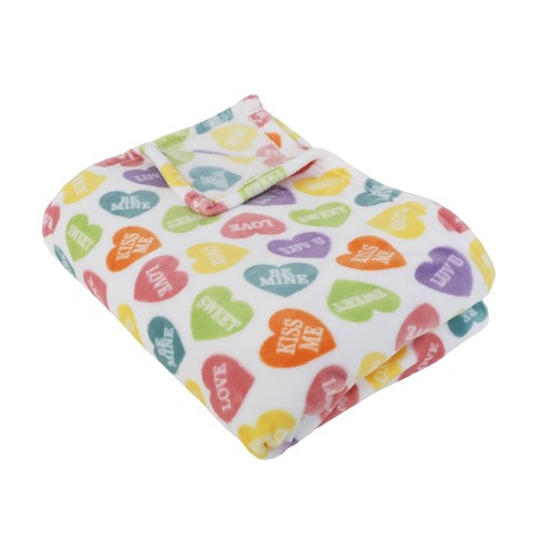 50 X70 Calico Heart Candy Flanner Fleece Folded Throw Blanket Décor Therapy Target