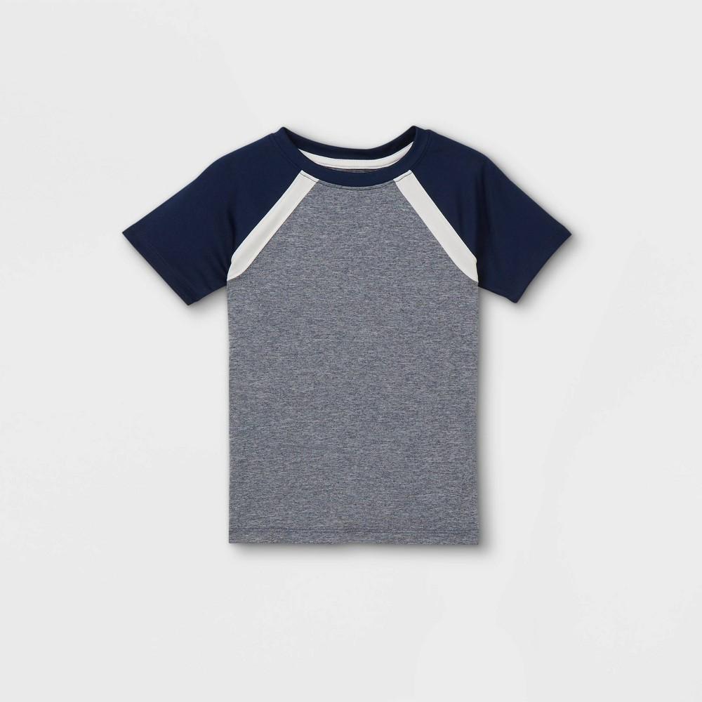 Toddler Boys 39 Colorblock Athletic Short Sleeve T Shirt Cat 38 Jack 8482 Navy 12m