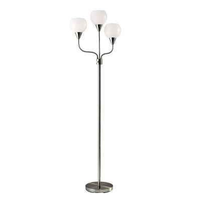 "65.5"" Phillip 3-Arm Floor Lamp Steel - Adesso"