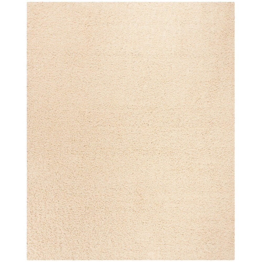 Solid Loomed Area Rug Ivory