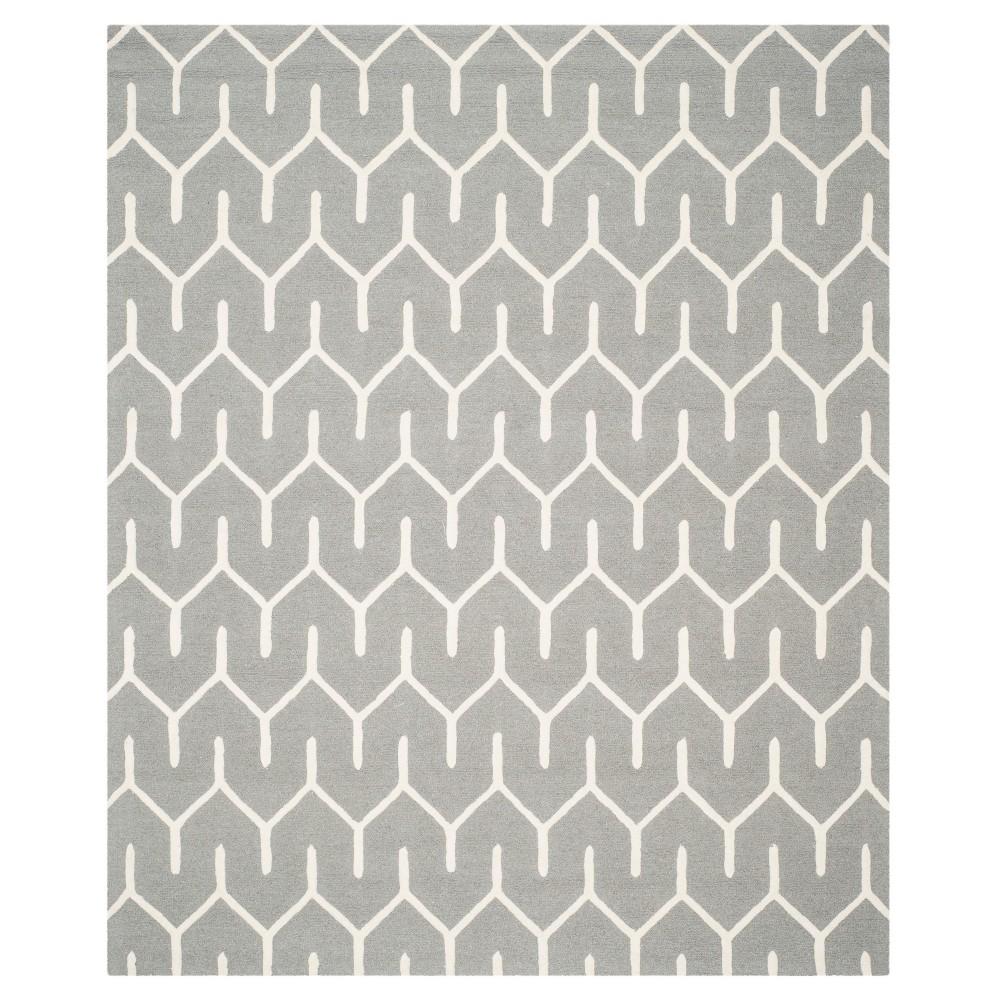 Lanie Area Rug - Dark Gray/Ivory (8'x10') - Safavieh, White Gray