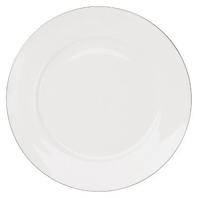 10 Strawberry Street Dali Bone China Salad Plate 8   White/Light Silver - Set of 4