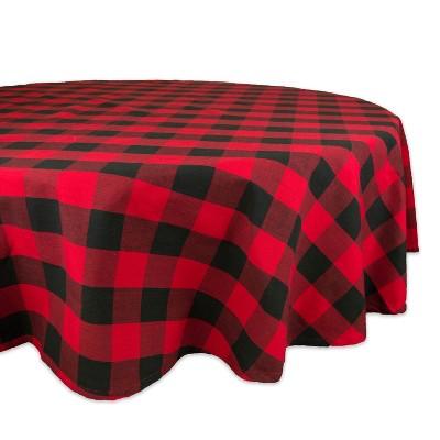 70 R Buffalo Check Tablecloth Red/Black - Design Imports