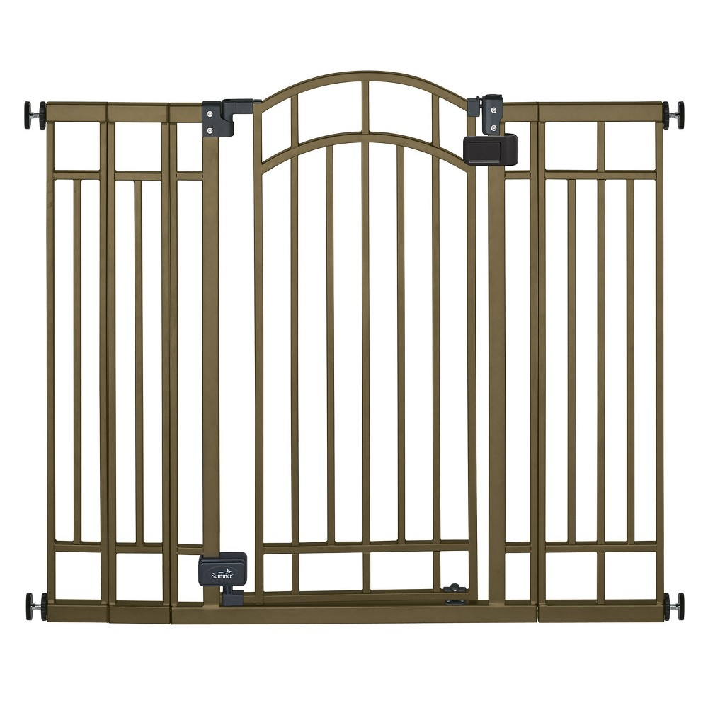 Summer Infant Walk Thru Multi-Use Bronze Deco Extra Tall Baby Gate with Auto Close
