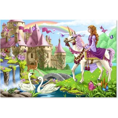 Melissa And Doug Fairy Tale Castle Jumbo Floor Puzzle 48pc