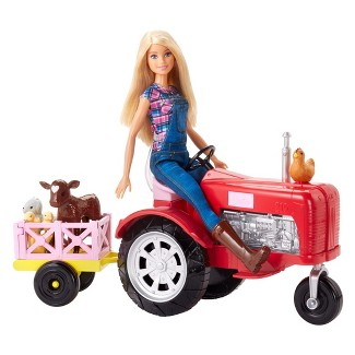 Barbie Farmer Doll and Tractor Playset