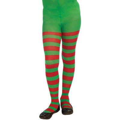Forum Novelties Red And Green Striped Tights Christmas Costume Accessory Child