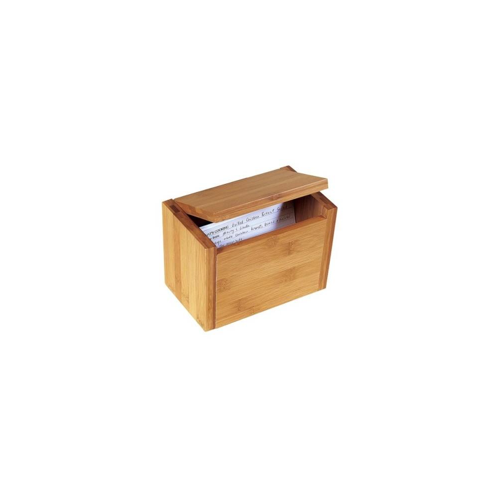Image of Lipper International Bamboo Recipe Box