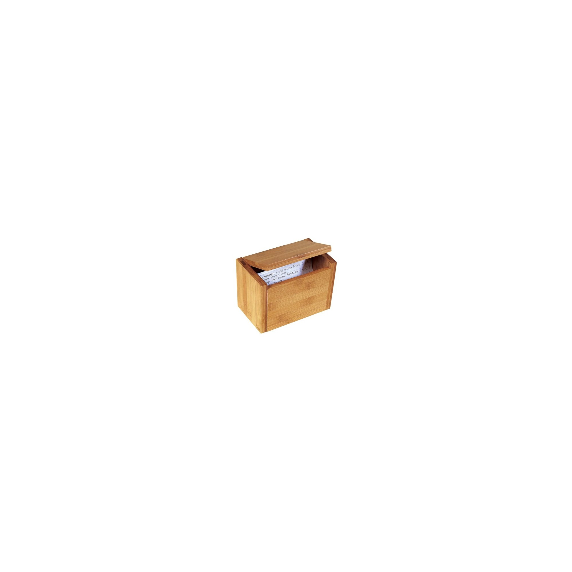 Lipper International Bamboo Recipe Box