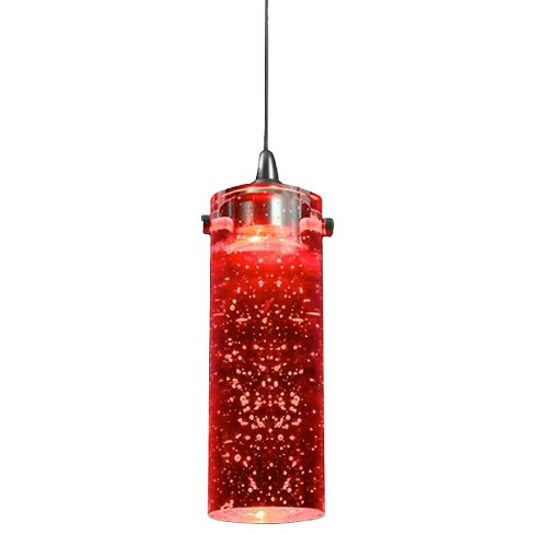 Cal Lighting LED Metal / Red Glass ceiling Pendant - image 1 of 1