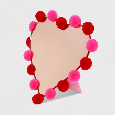 Pom Pom Standing Heart Valentine's Mirror - Spritz™