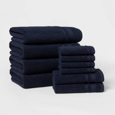 10pk Towel Set Navy Blue - Threshold™