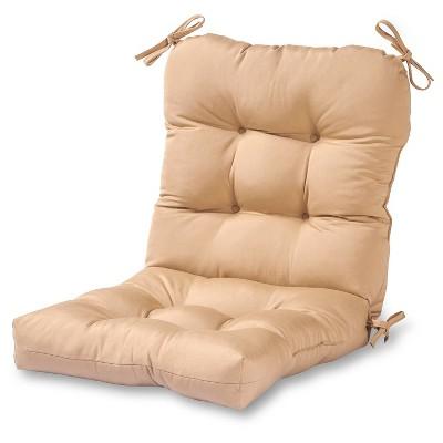 Solid Outdoor Seat/Back Chair Cushion - Stone - Kensington Garden