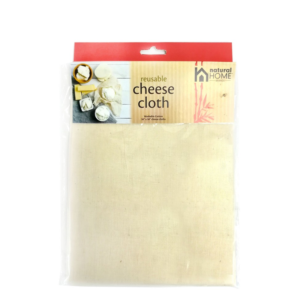 "Image of ""Natural Home 36""""x36"""" Cheesecloth, White"""