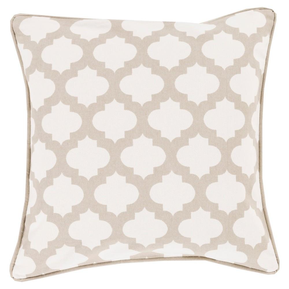 Ivory Moroccan Lattice Throw Pillow 20