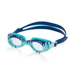 Speedo CB Junior Glide Print Goggles - Navy/Clear