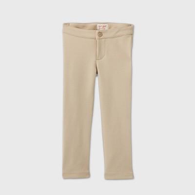 Toddler Girls' Stretch Uniform Ponte Pants - Cat & Jack™ Khaki