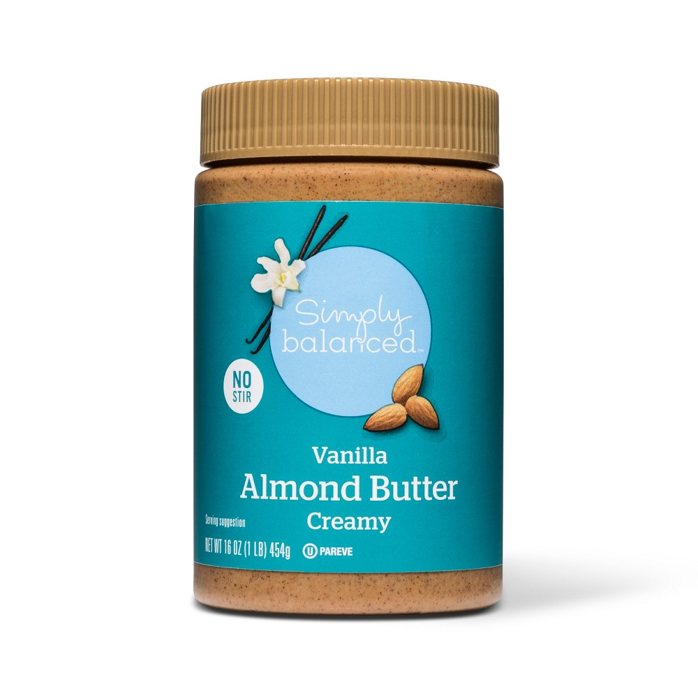 Vanilla Creamy Almond Butter - 16oz - Simply Balanced