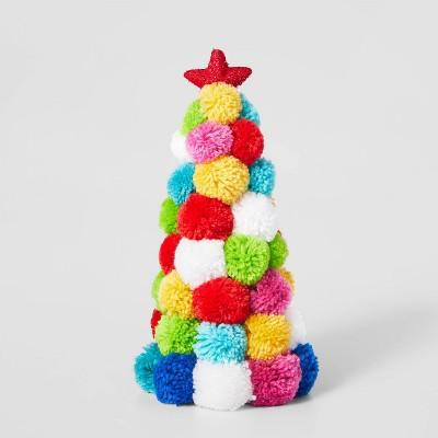 Pom Pom Christmas Trees Decorative Figurine Brights - Wondershop™
