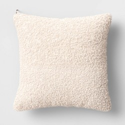 Boucle Throw Pillow with Exposed Zipper - Threshold™ designed with Studio McGee