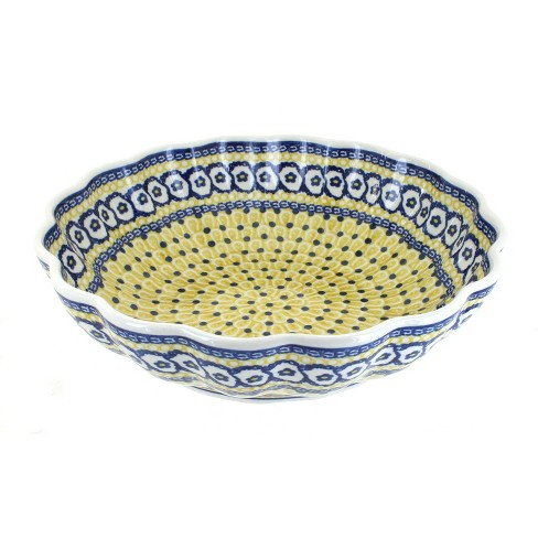 Blue Rose Polish Pottery Saffron Large Scallop Bowl - image 1 of 1