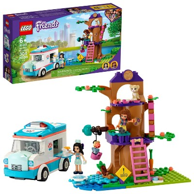 LEGO Friends Vet Clinic Ambulance Building Toy 41445