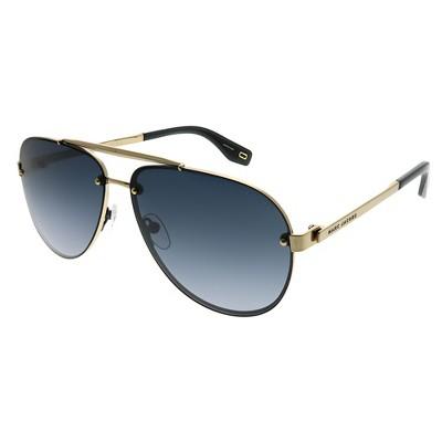 Marc Jacobs  2F7 9O Unisex Aviator Sunglasses Antiqued Gold 61mm