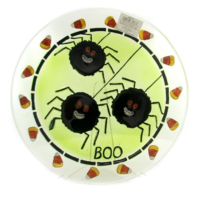 "Tabletop 13.0"" Spider Fused Plate 13 Inch Round Halloween Platter Gallerie Ii - Serving Platters : Target"