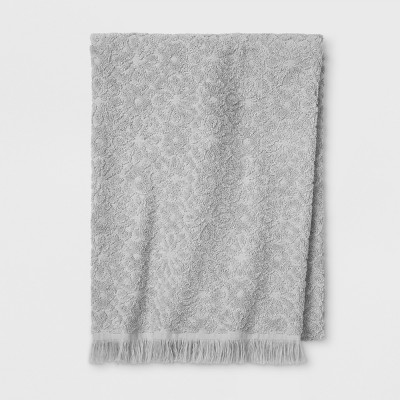 Soft Jacquard Accent Bath Towels Gray - Opalhouse™