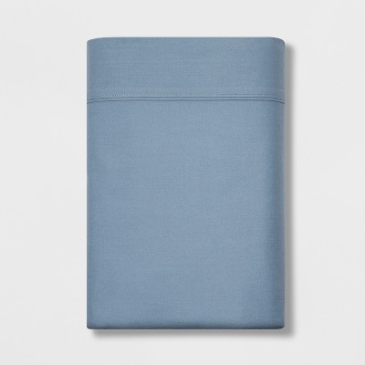 Queen 300 Thread Count Ultra Soft Flat Sheet Light Indigo - Threshold™