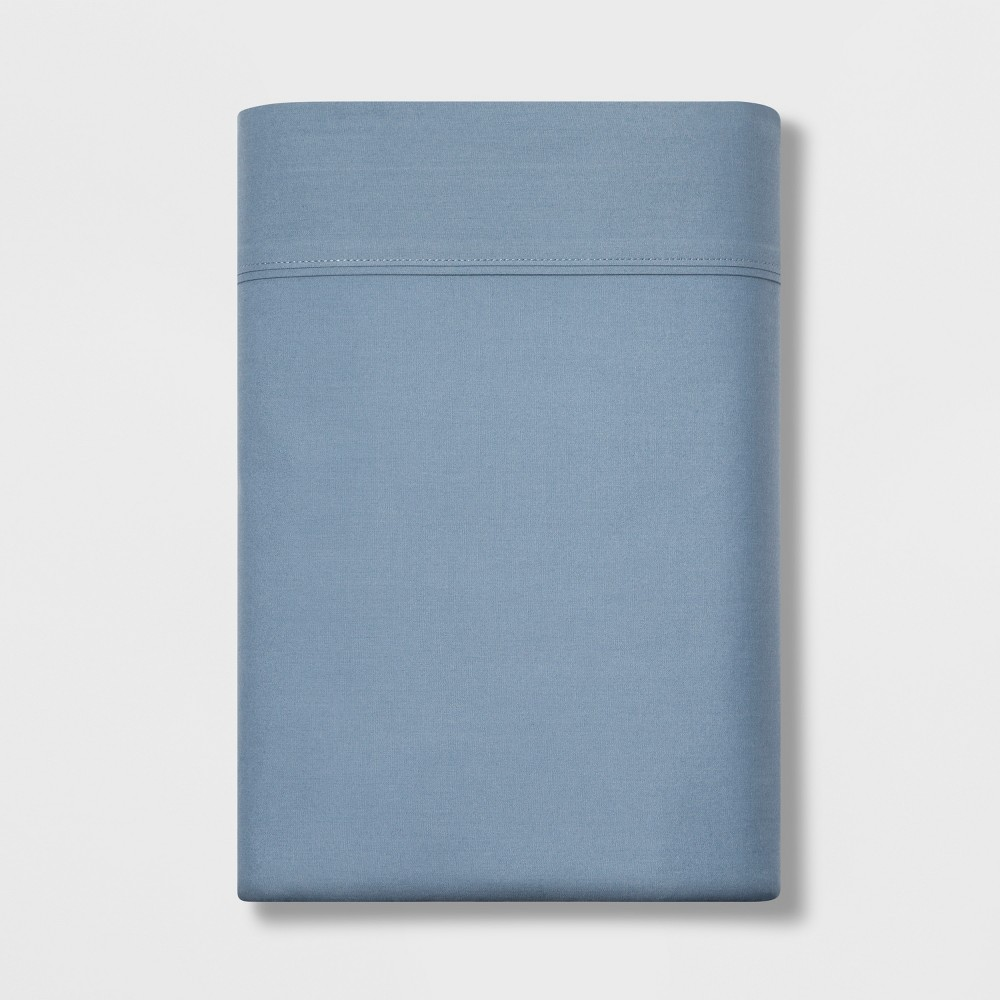 Image of Full 300 Thread Count Ultra Soft Flat Sheet Light Indigo - Threshold , Light Blue