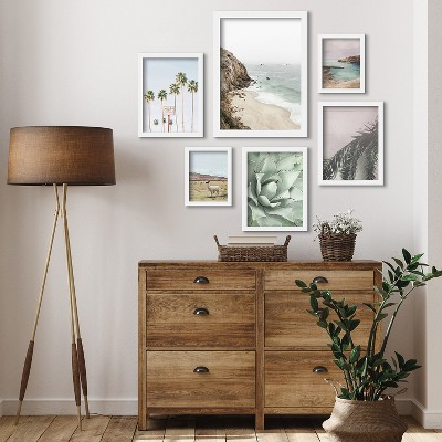 Americanflat California Coast by Sisi and Seb 6 Piece Framed Gallery Wall Art Set
