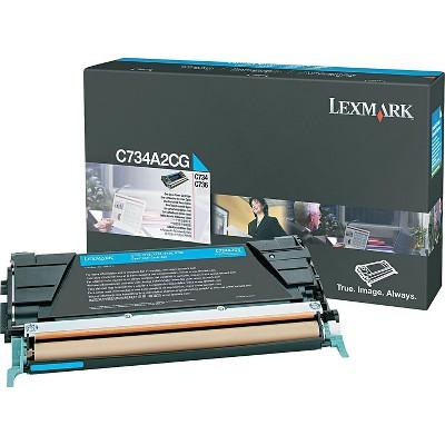 Lexmark Cyan Toner Cartridge C734A2CG