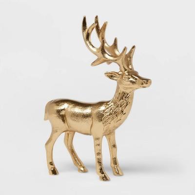 """10"""" x 7.6"""" Cast Metal Standing Deer - Threshold™"""