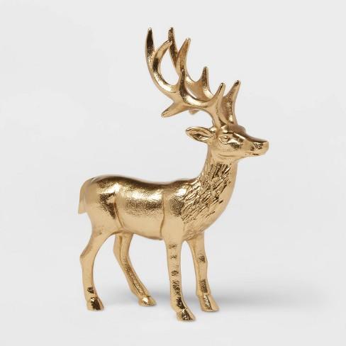"""10"""" x 7.6"""" Cast Metal Standing Deer - Threshold™ - image 1 of 4"""